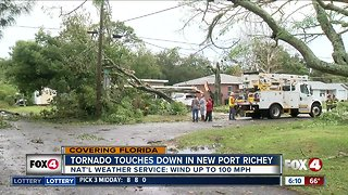NWS confirms tornado in New Port Richey