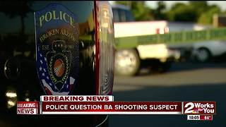 Police question shooting suspect