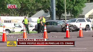 Triple fatality crash shuts down stretch of U.S. 19 in Palm Harbor - Video