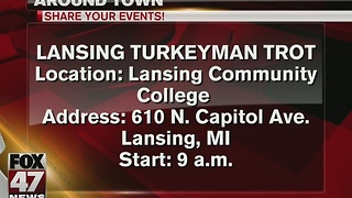 Turkeyman Trot 5k in downtown Lansing on Thanksgiving - Video