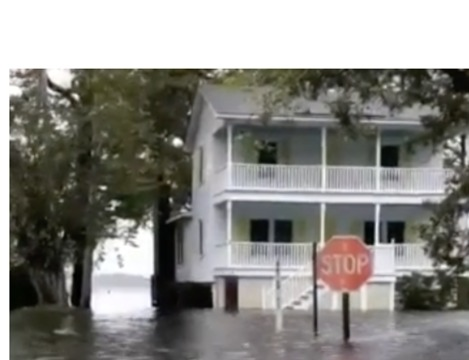 Hurricane Florence Storm Surge Turns Streets Into Waterways in Belhaven, North Carolina