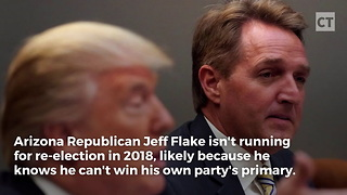 Jeff Flake Supports Roy Moore's Opponent - Video