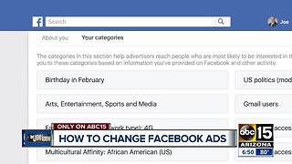 How to change the ads you and your kids see on Facebook