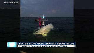 Coast Guard rescues stranded boaters after boat takes on water - Video