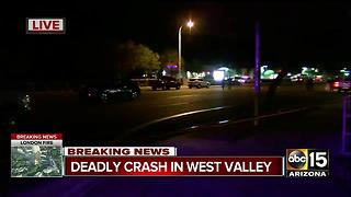 Phoenix police: Person killed in West Valley crash