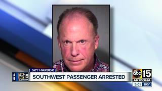 Southwest passenger arrested for assaulting crewmember - Video