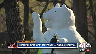 Landmark Highway Bear gets facelift after 50 years