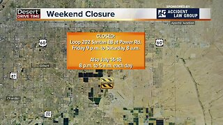 Weekend traffic closures in the Valley