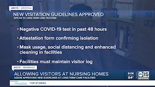 Allowing visitors at Arizona nursing homes