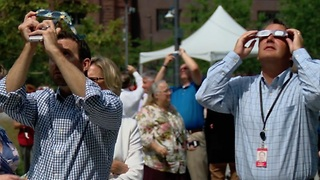 Downtown Clevelanders take in Solar Eclipse - Video