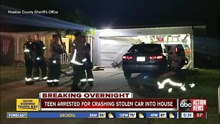 16-year-old crashes stolen SUV into Clearwater home