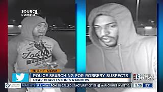 Police searching for robbery suspects near Charelston, Rainbow - Video