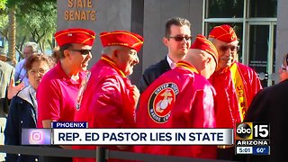 Ed Pastor lies in state at Arizona State Capitol Sunday