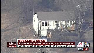 5 children safe, man in custody after KCK standoff