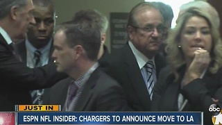 ESPN NFL Insider: Chargers to announce move to LA