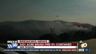 Streets evacuated due to Pasqual Fire - Video