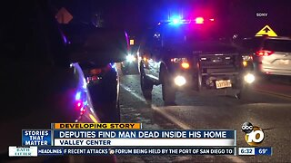 Man found dead inside Valley Center home