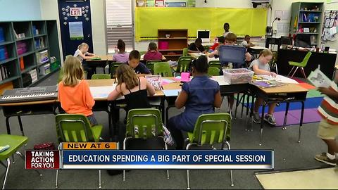 Education spending a big part of special session