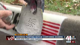 Fliers about painting curbs cause confusion in Fairway - Video