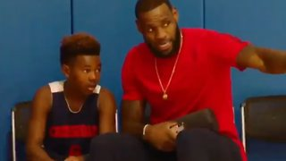 Lebron James Gave His Son A Heartfelt Pep Talk After His Game