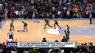 Ice Cube, Chauncey Billups bring BIG3 basketball games to Detroit - Video