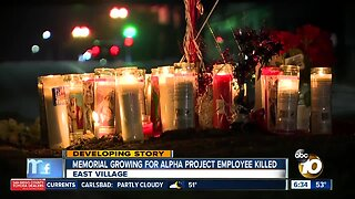 Memorial grows for security guard killed near homeless shelter