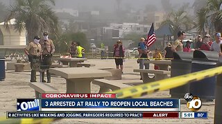 Three protesters arrested at Encinitas beach rally