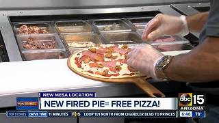 New Fired Pie means free pizza on Tuesday! - Video