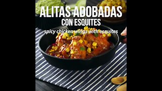 Marinated Wings with Esquites
