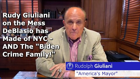 Rudy Giuliani is Sickened by What's Happening in NYC