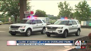 Overland Park gas station clerk in critical condition after being stabbed - Video
