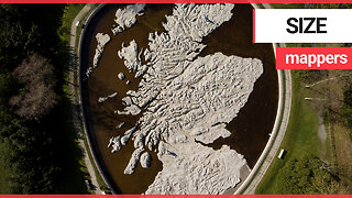 Stunning aerials show large scale concrete map of Scotland