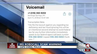 IRS robocall scam warning in Cape Coral
