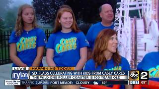 Six Flags celebrates with kids from Casey Cares Foundation - Video