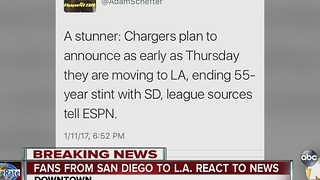 Fans from San Diego to Los Angeles react to Chargers news - Video