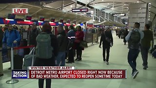 DTW closed because of weather