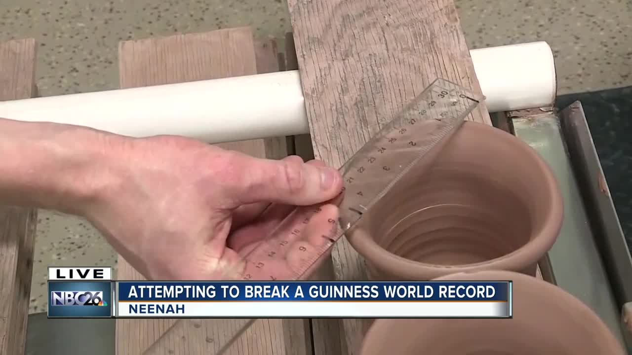 World record attempt for Sunset Hill Stoneware