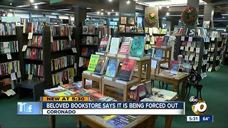 Iconic bookstore says it's being forced out