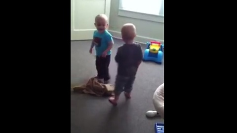 Twin brothers square off in adorable dance battle