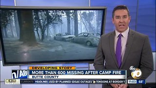 More than 600 missing after Camp Fire