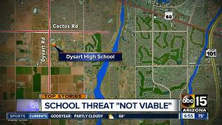 Dysart High School threat does not appear credible, police say - Video