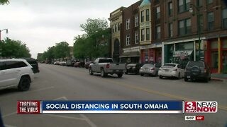Social distancing in South Omaha