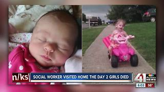 Social worker visited home the day 2 girls died - Video