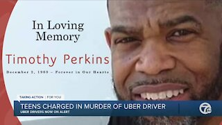 Teens charged in murder of Uber drive
