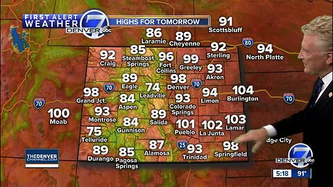 Some super-heated days on the way for Colorado