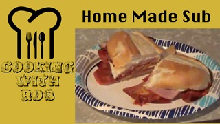 Homemade pizza shop style submarine sandwich - Video