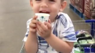 3 year old orange juice connoisseur  - Video