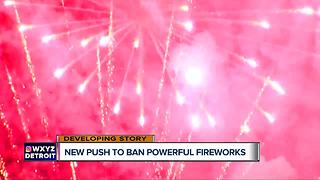 New push to ban powerful fireworks in Michigan - Video