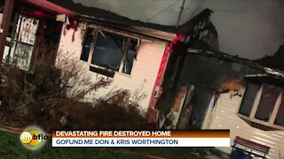 HOME DESTROYED BY FIRE IS SURPRISED BY DEWALT TOOLS
