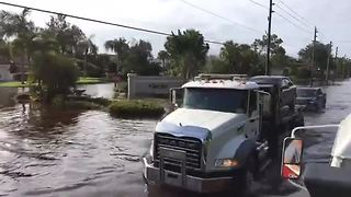 More flooded roads in Fort Myers Florida - Video
